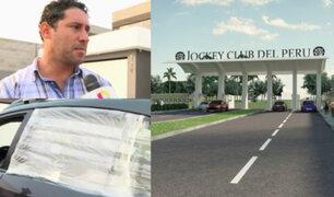 Empresario espera pronta solución tras robo de autopartes de su auto en el Jockey Club