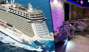 Vientos huracanados desatan pánico en pasajeros de crucero