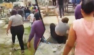 República Dominicana: mujer cayó aparatosamente en el hueco de una tumba
