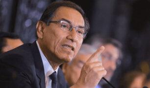 """Presidente Vizcarra sobre caída de su popularidad: """"Es normal y natural"""""""