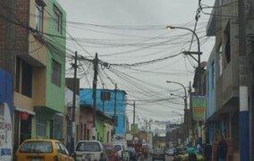 Cables en calles de Lima son un peligro para ciudadanos