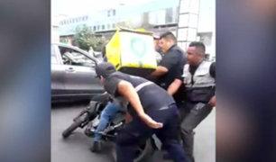 Separan a fiscalizadores que cometieron excesos con motoclistas en Surco