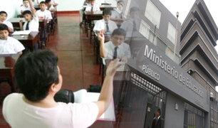"""Minedu sobre ley que permite reincorporación de docentes sin título: """"afectará la calidad educativa"""""""