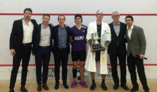 Diego Elías: peruano se consagró campeón de squash en Canadá