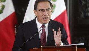 """Presidente Vizcarra: """"Son cinco ministras en el Gabinete y habrá más"""""""