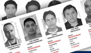 Ministerio del Interior: estos son los feminicidas buscados intensamente en todo el país