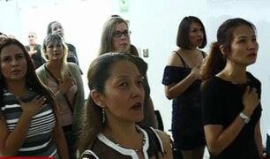 Extranjeras adoptan nacionalidad peruana en el Día de la Mujer
