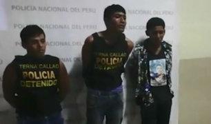 Callao: caen delincuentes tras asaltar un taxi por aplicativo