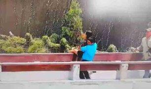 FOTOS: mujer intentó suicidarse desde un puente de la Costa Verde