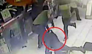 San Borja: golpean a ladrón que trató de robar farmacia