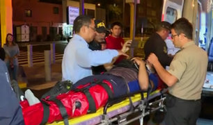 San Isidro: motociclista salva de morir tras chocar contra auto