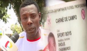 Exfutbolista nigeriano que cayó en la delincuencia pide ser deportado
