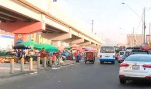 Ambulantes de Gamarra se trasladaron a la avenida Aviación