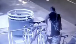 Miraflores: capturan a ladrón de bicicletas de alta gama