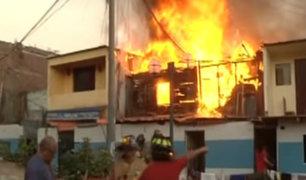 Jesús María: un anciano murió en incendio que consumió varias casas
