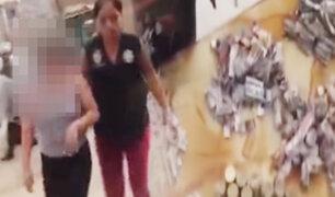 """Capturan a una adolescente con mil """"ketes"""" de droga en San Juan de Lurigancho"""
