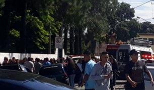Brasil: 8 muertos deja tiroteo en colegio de Sao Paulo