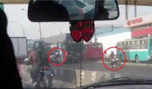 Panamericana Norte: motociclistas circulan en sentido contrario para evitar embotellamiento