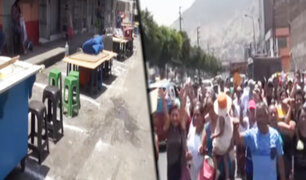 Desalojan a ambulantes que pretendían invadir la vía pública en San Juan de Lurigancho