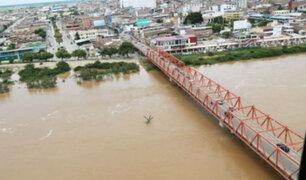 Río Tumbes se encuentra en alerta roja por incremento de caudal