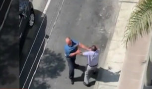 Calles de Miraflores y La Victoria convertidas en escenarios de peleas