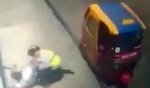 SJM: mototaxista terminó con la cabeza rota tras intervención de fiscalizadores