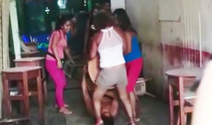 Iquitos: mujer da brutal golpiza a hombre por gastar dinero de la comida de sus hijos