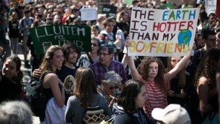 Jóvenes  de todo el mundo marchan contra el cambio climático