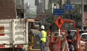 Obras en Av. Arenales ocasionan congestionamiento vehicular