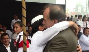 Callao: así despidieron a cadetes que zarparon en buque 'Unión'