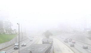 Densa neblina sorprendió a los limeños el último fin de semana