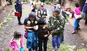Cusco: policía rescató a hermanos que estaban amarrados y abandonados en vivienda