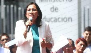 Investigan penalmente a ministra de Educación, Flor Pablo Medina