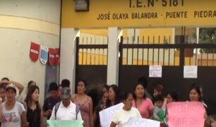 Puente Piedra: alumnos sin profesor pierden clases por dos semanas consecutivas