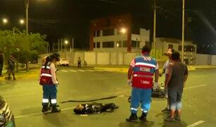 San Luis: motociclista resulta herido tras ser arrollado por taxi