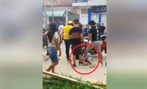 Delincuentes son brutalmente golpeados tras robar a clientes y trabajadores de cevichería