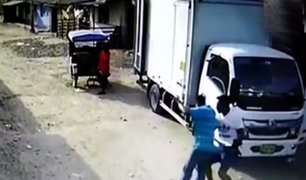 Piura: registran asalto a trabajadores de camión repartidor de bebidas