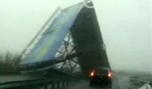 Fuertes vientos causan destrucción al sur de China