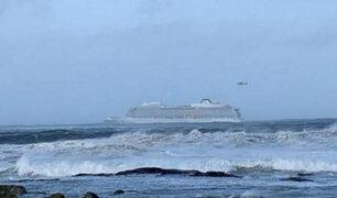 Noruega: evacuan a 1300 personas de crucero a la deriva