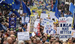 Brexit: miles marcharon en Londres para exigir nuevo referéndum