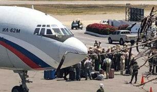 Aviones rusos llegaron a Venezuela con personal militar y equipos