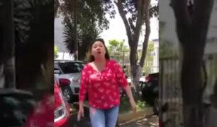 Habla mujer que profirió insultos a conductora durante discusión