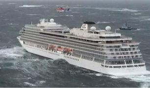 Noruega: nuevas imágenes muestran el terror de los pasajeros en crucero averiado