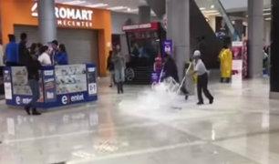 Huancayo: intensas lluvias inundan calles y centros comerciales
