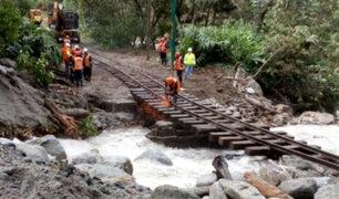 Intensifican trabajo para restablecer vía férrea Machu Picchu-Hidroeléctrica