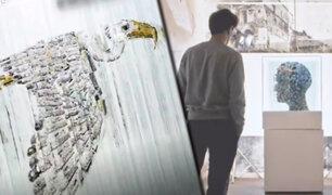 Austria: conozca al artista que crea arte con fragmentos de vidrio