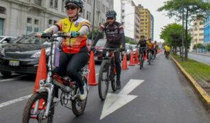 Cerrarán carril de la Av. Tacna y Garcilaso de la Vega para el uso de ciclistas