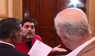 Sujeto burló seguridad del Congreso y confrontó a García Belaúnde