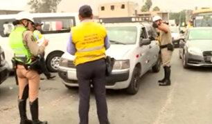 La Molina: realizan operativo contra taxis colectivos