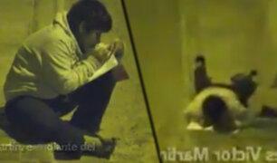 Trujillo: menor de 12 años usa la luz de un poste para realizar sus tareas escolares por la noche